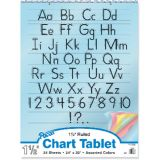 Colored Paper Chart Tablet, 24 x 32, 1 1/2 ruled