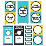 Aqua Oasis Behavior Clip Chart Mini Bulletin Board Set