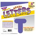 4 Uppercase Casual Solids Ready Letters®, Purple