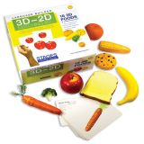 Language Builder® 3D–2D Matching Kit, Foods