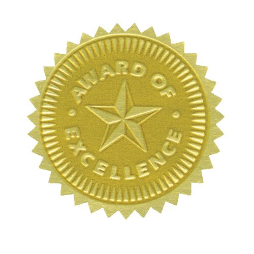 Gold foil embossed seals award of excellence h va373 gold foil embossed seals award of excellence thecheapjerseys Image collections