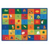 Learning Blocks Carpet, 5'10 x 8'4 Rectangle, Primary Colors
