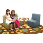 Just Like Home Modern Casual Sofa, Enviro-Child Upholstery, Sage
