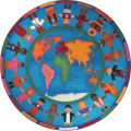 Hands Around the World™ Rug, 13'2 Round