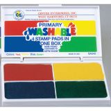 Washable 4-in-1 Stamp Pad, Primary