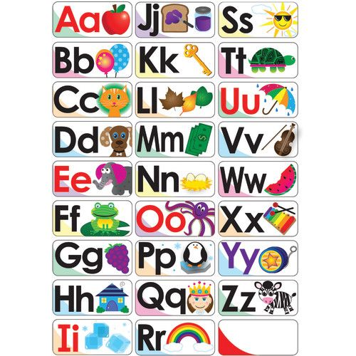 abc picture words double sided magnets ash40006