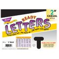 2 Uppercase Casual Solids Ready Letters®, Black