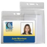 C-Line® Zippered ID Badge Holders, Vertical
