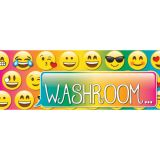 Laminated Hall Pass, Emoji Washroom Pass