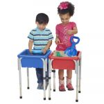 Sand & Water Play Table with Lid, 2-Station