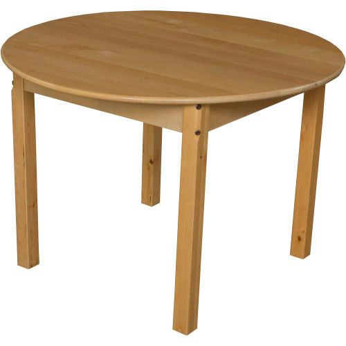 Solid Birch Hardwood Table, 36 Round With 22 Legs