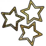 Sparkle Shine Colorful Cut-Outs®, Black & Gold Stars