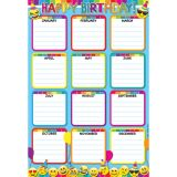 Emoji Birthday 13 x 19 Smart Poly™ Chart