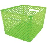Woven Basket, Large, Lime