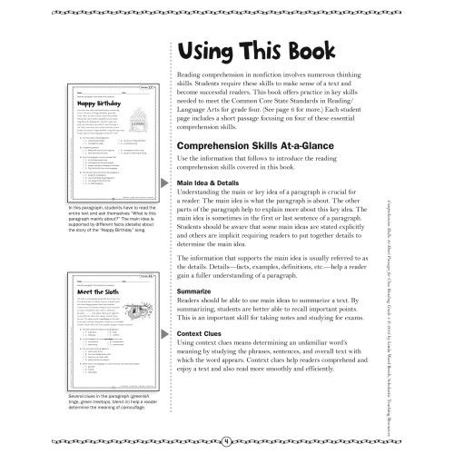 Comprehension Skills: Short Passages for Close Reading Grade 4 ...