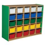 25-Tray Storage, 38H x 48W, With Color Trays, Green Apple™