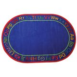 Know Your ABCs Carpet, 5'10 x 8'4 Oval