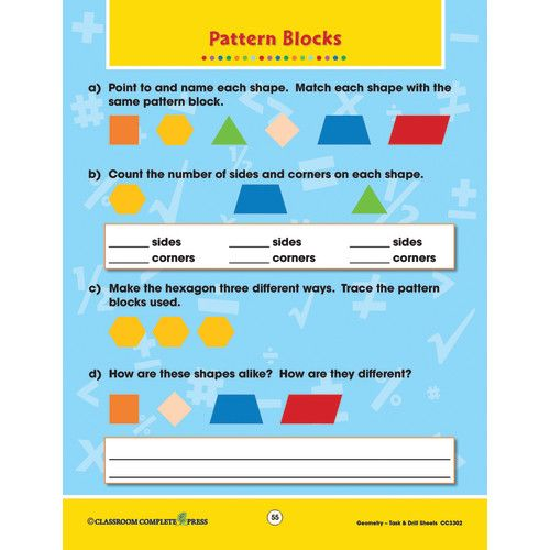 Principles & Standards of Math Task & Drill Worksheets, Geometry ...