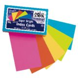 Super Bright Index Cards, 3 x 5, Unruled