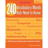 240 Vocabulary Words Kids Need to Know, Grade 6