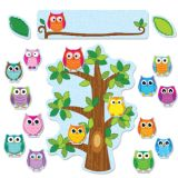 Colorful Owls Behavior Bulletin Board Set