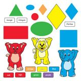 Colors & Shapes (English/Spanish) Bulletin Board Set