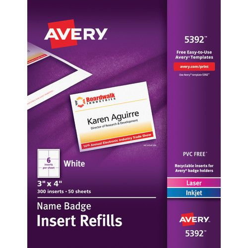 avery name badge inserts ave05392