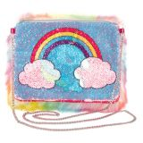 Rainbow Magic Sequin Fur Bag