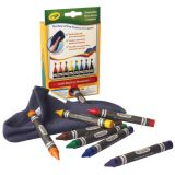 Crayola® Washable Dry-Erase Crayons, Standard colors, 8-color set