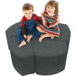 Economy Shapes Modular Upholstered Stool, Set of 5