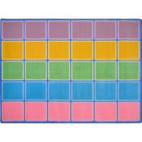 Blocks Abound™ Rug, 7'8 x 10'9 Rectangle, Pastel