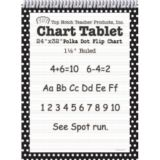Polka Dot Border Chart Tablet, 24 x 32, 1 1/2 Ruled, Black