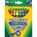 Crayola® Ultra Clean Washable Large Crayons, 16 colors