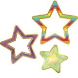 Sparkle Shine Colorful Cut-Outs®, Rainbow & Foil Stars