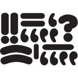 Magnetic Punctuation Marks