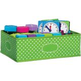 Lime Polka Dots Storage Bin, Medium