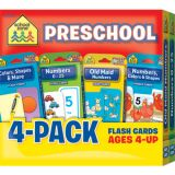 Preschool Flash Cards 4-Pack