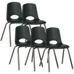 Stackable School Chairs w/Chrome Legs, 18