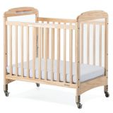 Next Generation Serenity® Compact-Size Crib with Natural EverClear™ Finish, Fixed-Side with Clearview End Panels
