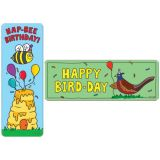 So Much Pun! Hap-bee Birthday Bookmarks