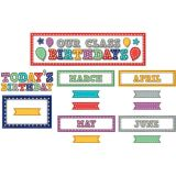 Marquee Our Class Birthdays Mini Bulletin Board Set
