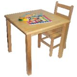 Deluxe Hardwood Table, 30 x 30 Square with 18 Legs