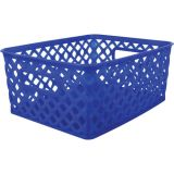 Woven Basket, Small, Blue