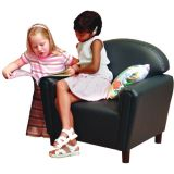 Just Like Home School-Age Chair, Premium Vinyl Upholstery, Teal