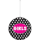 B/W Dots Girls Hall Pass