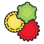 Colorful Cut-Outs® Assorted Designs, Gears
