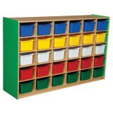 30-Tray Storage, 38H x 58W, With Color Trays, Green Apple™