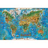 Dino's Children's Illustrated 300-Piece Jigsaw Puzzle, Animals of the World