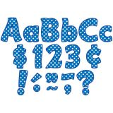 Funtastic Font 4 Letters, Blue Polka Dots, Combo Pack
