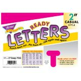 2 Uppercase Casual Solids Ready Letters®, Hot Pink